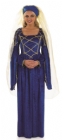 Tudor Lady Medieval Costume - Blue (2504)